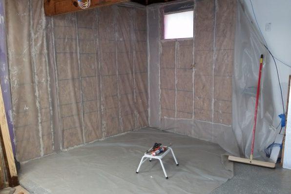 coldroom wall prep